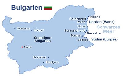 flughäfen bulgarien karte Flug Bulgarien günstig buchen! ab in den urlaub.de