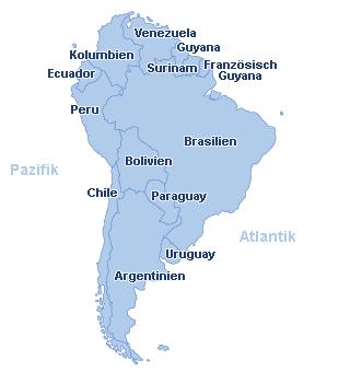 Lateinamerika Karte Länder.Urlaub Südamerika Günstig Buchen Ab In Den Urlaub At